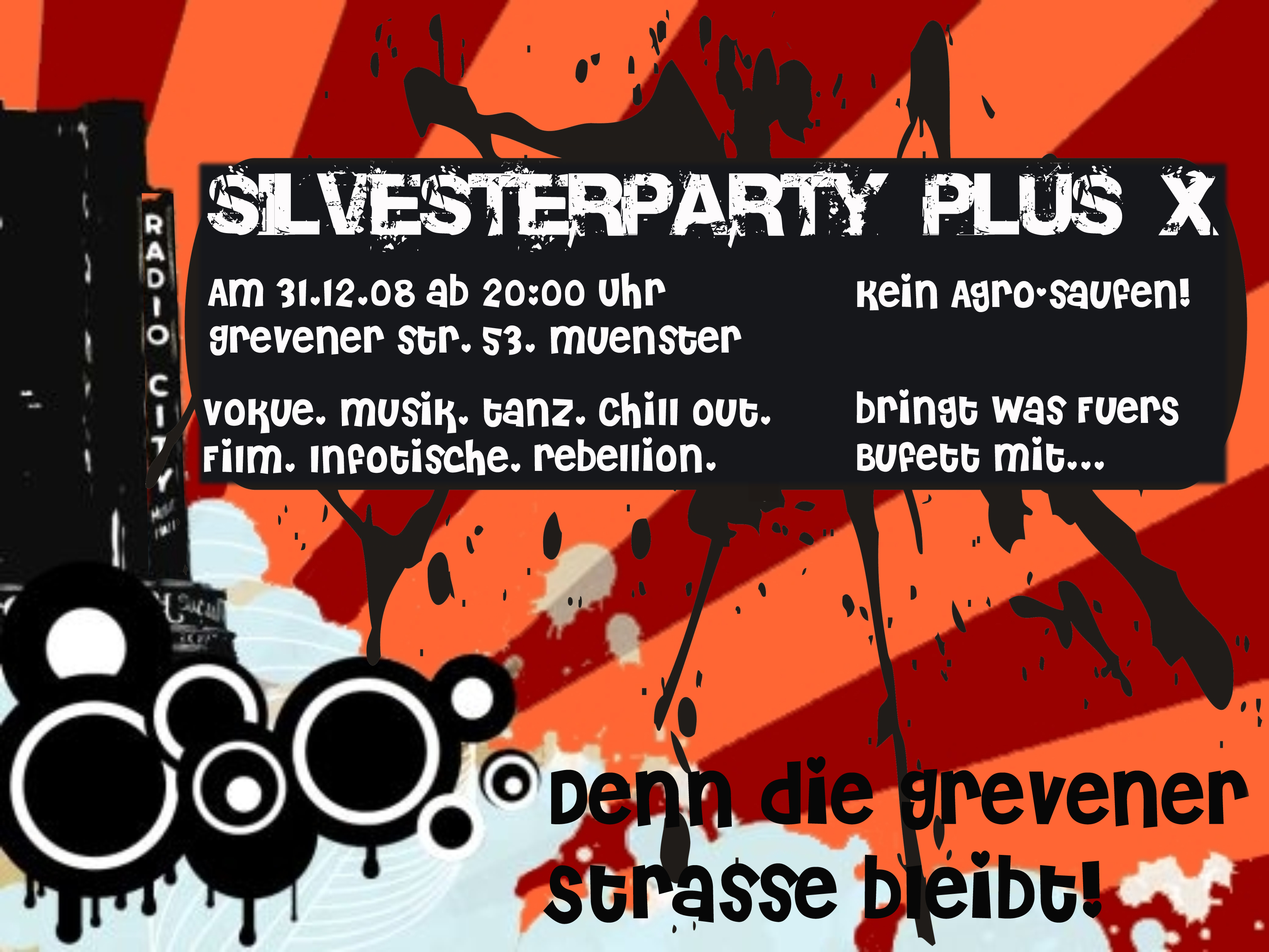 Flyer der Party